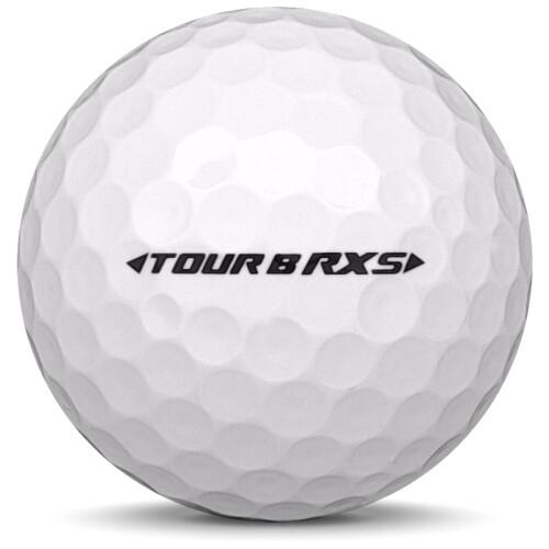 Golfboll av modellen Bridgestone Tour B RXS i 2019 års version med vit färg från sidan