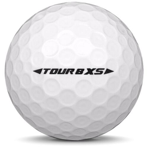 Golfboll av modellen Bridgestone Tour B XS i 2019 års version med vit färg från sidan
