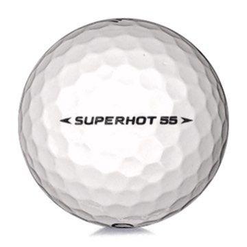 Golfboll av modellen Callaway Superhot 55 i vit färg