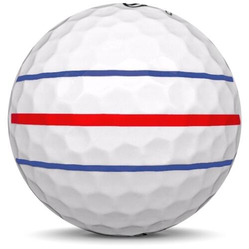 Golfboll av modellen Callaway Chrome Soft x i 2019 års version med align färg från sidan