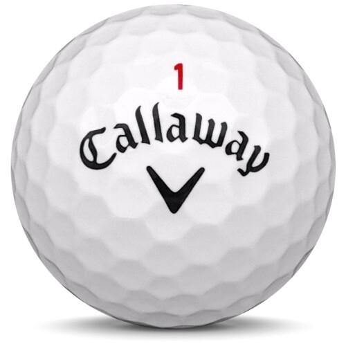 Golfboll av modellen Callaway Chrome Soft x i 2019 års version med vit färg framifrån