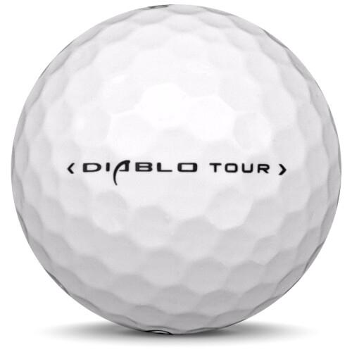 Golfboll av modellen Callaway Diablo Tour i 2018 års version med vit färg från sidan