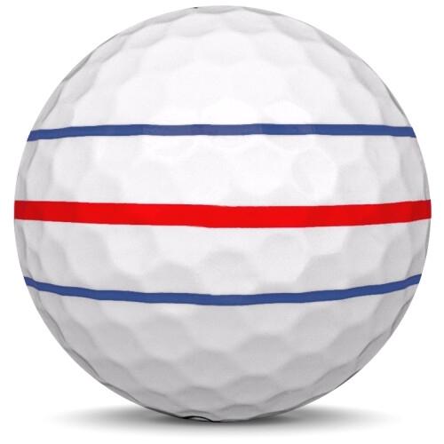 Golfboll av modellen Callaway ERC Soft i 2020 års version med vit färg från sidan