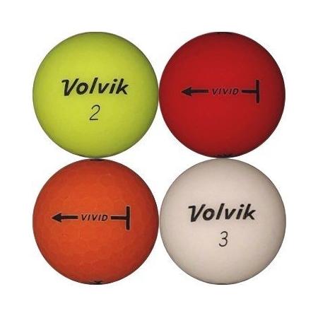 Golfboll av modellen Volvik VIVID i blandade färger