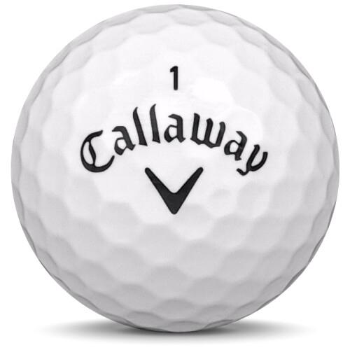 Golfboll av modellen Callaway Hex Soft i 2018 års version med vit färg framifrån