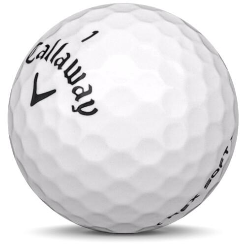 Golfboll av modellen Callaway Hex Soft i 2018 års version med vit färg sned bild