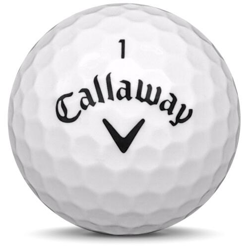 Golfboll av modellen Callaway Hex Tour Soft i 2020 års version med vit färg framifrån