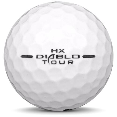Golfboll av modellen Callaway HX Diablo Tour i vit färg från sidan