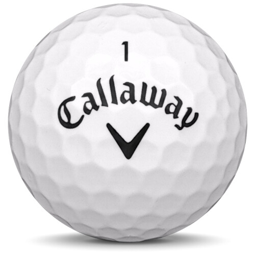 Golfboll av modellen Callaway Mix i vit färg