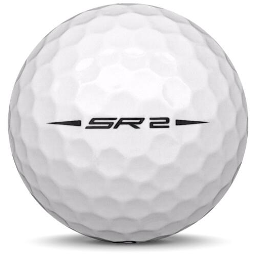 Golfboll av modellen Callaway Speed Regime 2 i vit färg från sidan