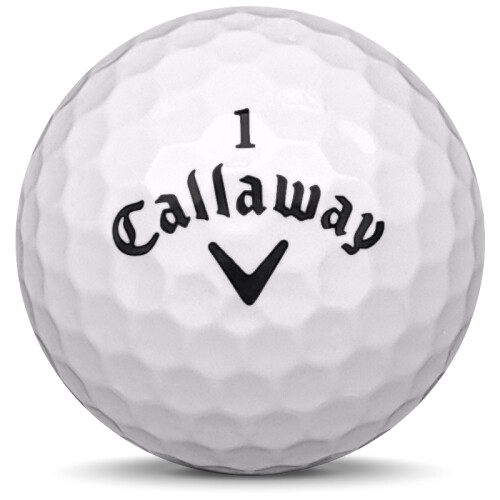 Golfboll av modellen Callaway Speed Regime 2 i vit färg framifrån