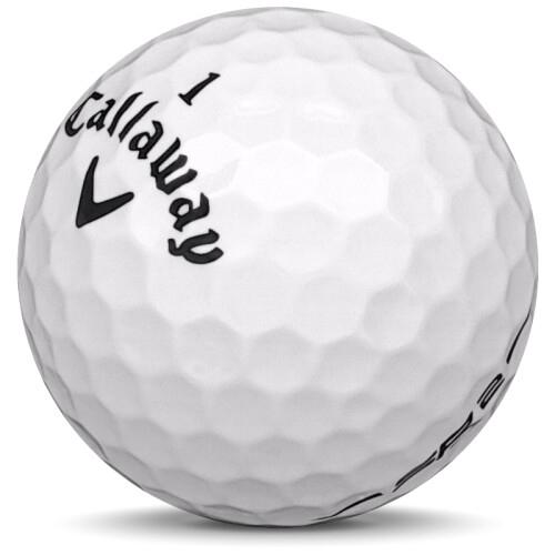 Golfboll av modellen Callaway Speed Regime 2 i vit färg sned bild