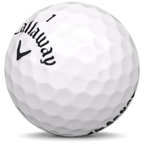 Golfboll av modellen Callaway Supersoft Magna i 2020 års version med vit färg sned bild