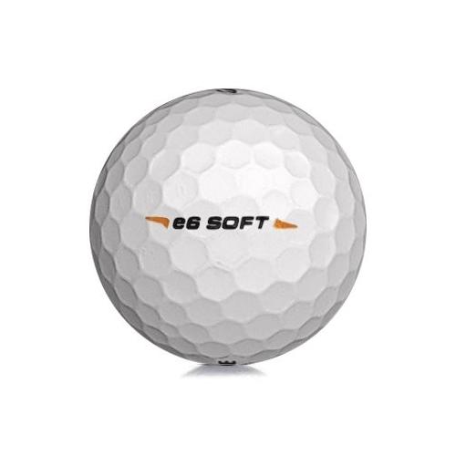 Golfboll av modellen Bridgestone E6 Soft i vit färg