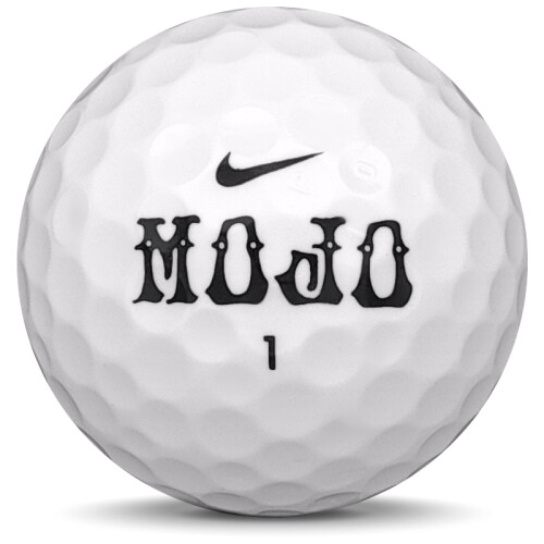 Golfboll av modellen Nike Mojo i vit färg från sidan