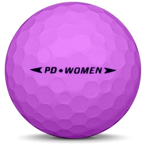 Golfboll av modellen Nike PD Women i rosa färg från sidan