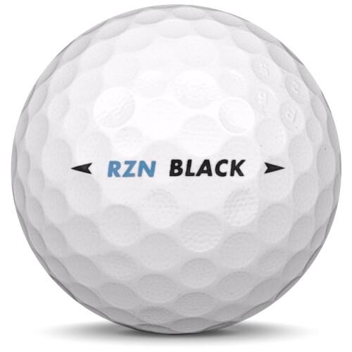 Golfboll av modellen Nike RZN Black i vit färg från sidan