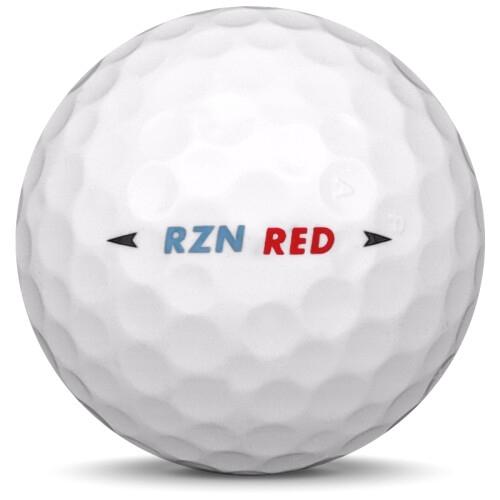 Golfboll av modellen Nike RZN Red i vit färg från sidan