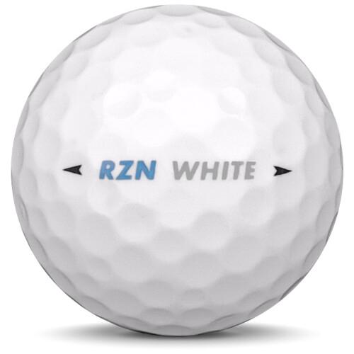 Golfboll av modellen Nike RZN White i vit färg från sidan