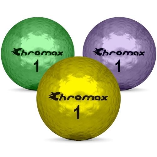 Golfbollar av modellen Others Chromax i färg mix färg