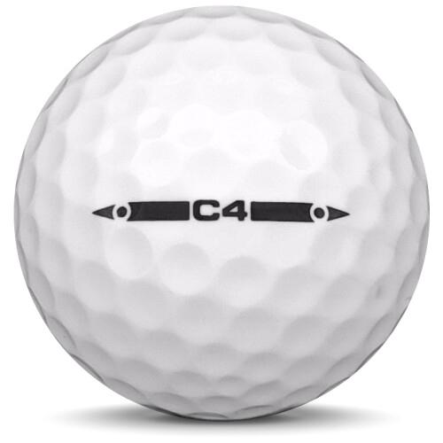 Golfboll av modellen Others MG 4C i 2019 års version med vit färg från sidan