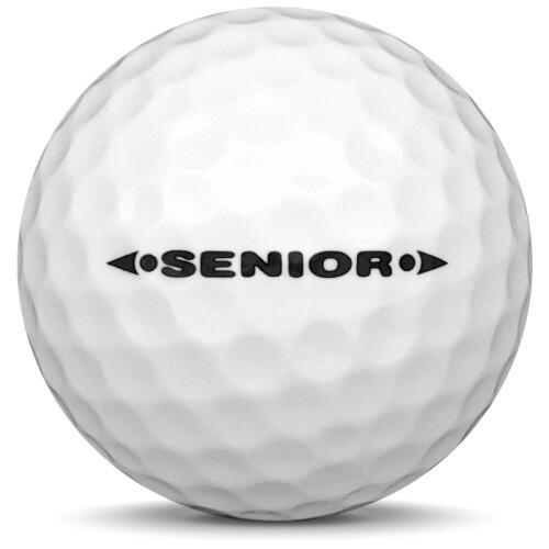 Golfboll av modellen Others MG Senior i 2019 års version med vit färg från sidan