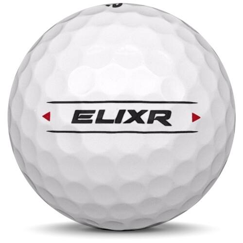 Golfboll av modellen Others OnCore ELIXR i 2020 års version med vit färg från sidan