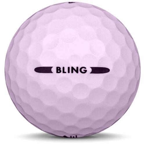 Golfboll av modellen Pinnacle Bling i rosa färg från sidan