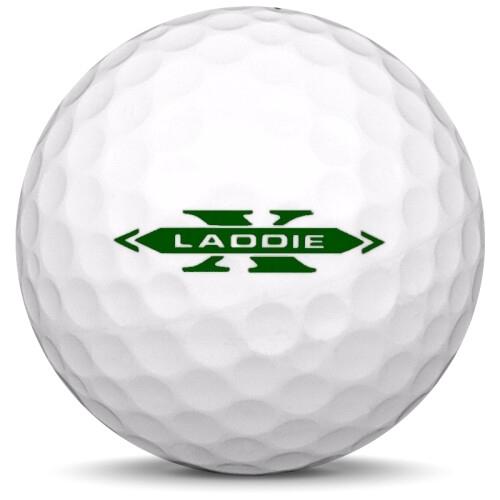 Golfboll av modellen Precept Laddie Extreme i 2019 års version med vit färg från sidan