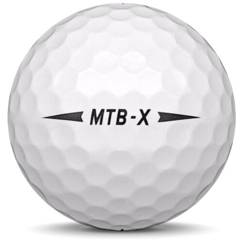 Golfboll av modellen Snell MTB-X i 2020 års version med vit färg från sidan
