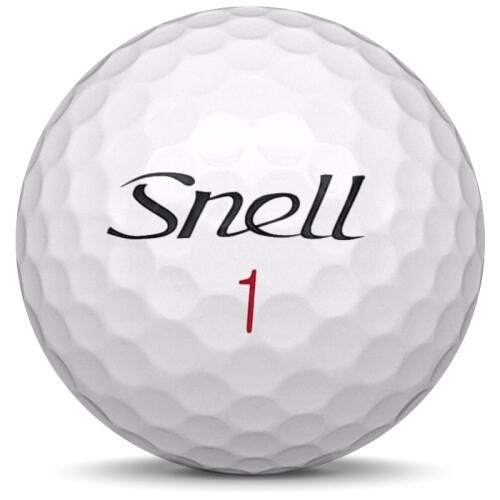 Golfboll av modellen Snell MTB-X i 2020 års version med vit färg framifrån