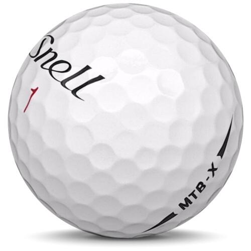 Golfboll av modellen Snell MTB-X i 2020 års version med vit färg sned bild