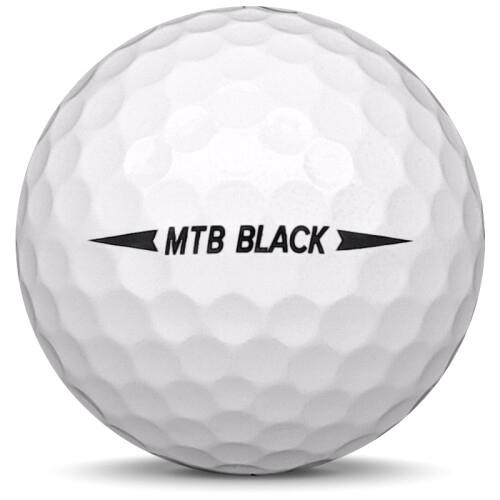 Golfboll av modellen Snell MTB Black i 2020 års version med vit färg från sidan