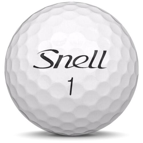 Golfboll av modellen Snell MTB Black i 2020 års version med vit färg framifrån