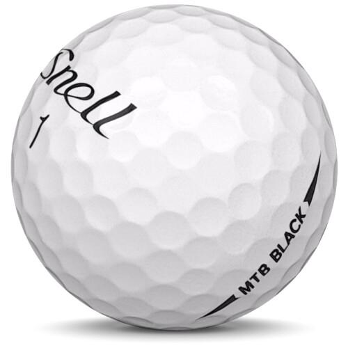 Golfboll av modellen Snell MTB Black i 2020 års version med vit färg sned bild