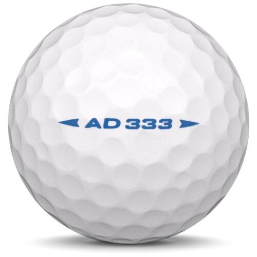 Golfboll av modellen Srixon AD 333 i vit färg från sidan