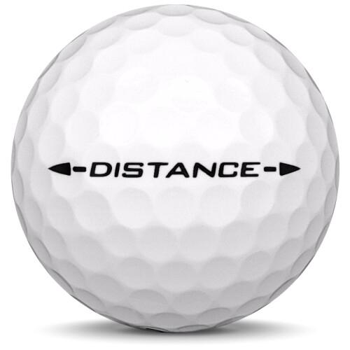 Golfboll av modellen Srixon Distance i vit färg från sidan