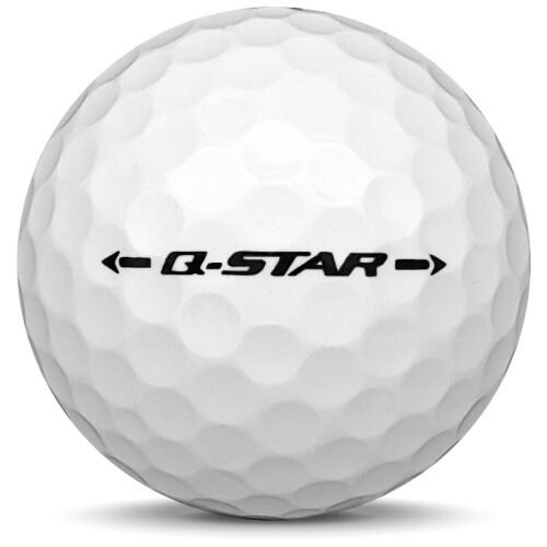 Golfboll av modellen Srixon Q-Star i 2018 års version med vit färg från sidan