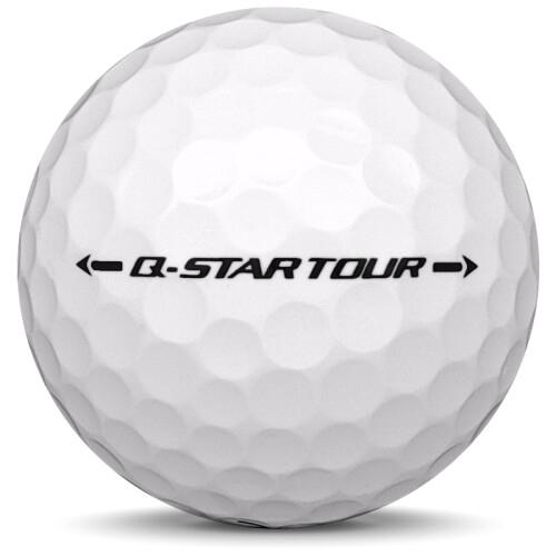 Golfboll av modellen Srixon Q-Star Tour i 2019 års version med vit färg från sidan