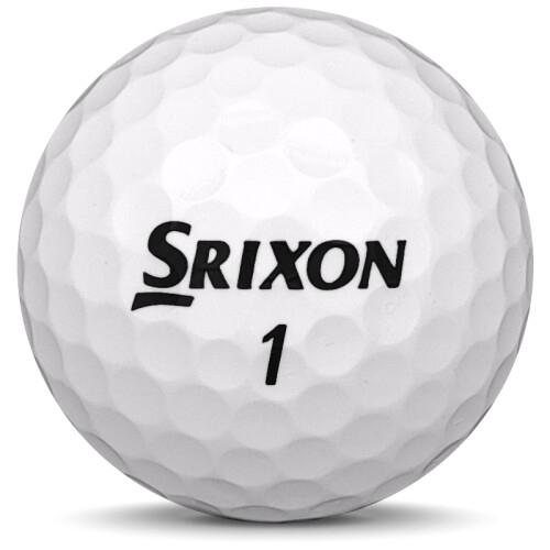 Golfboll av modellen Srixon Q-Star Tour i 2019 års version med vit färg framifrån