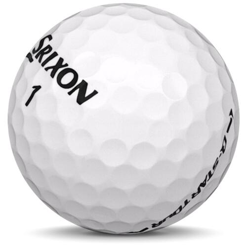 Golfboll av modellen Srixon Q-Star Tour i 2019 års version med vit färg sned bild