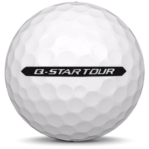 Golfboll av modellen Srixon Q-Star Tour i 2021 års version med vit färg från sidan