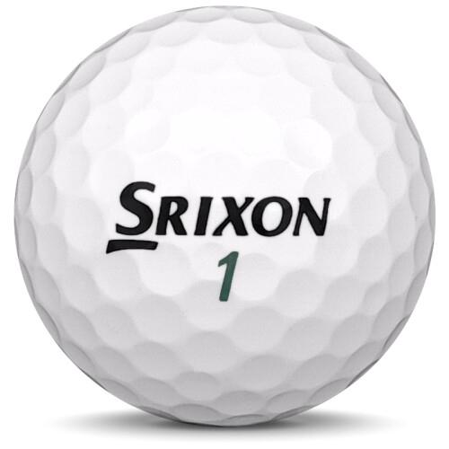 Golfboll av modellen Srixon Soft Feel i 2020 års version med vit färg framifrån