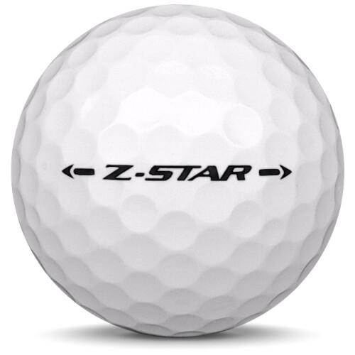 Golfboll av modellen Srixon Z-Star i 2018 års version med vit färg från sidan