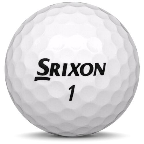 Golfboll av modellen Srixon Z-Star i 2020 års version med vit färg framifrån