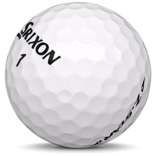 Golfboll av modellen Srixon Z-Star i 2020 års version med vit färg sned bild