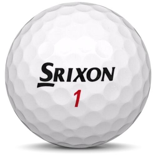 Golfboll av modellen Srixon Z-Star XV i 2020 års version med vit färg framifrån