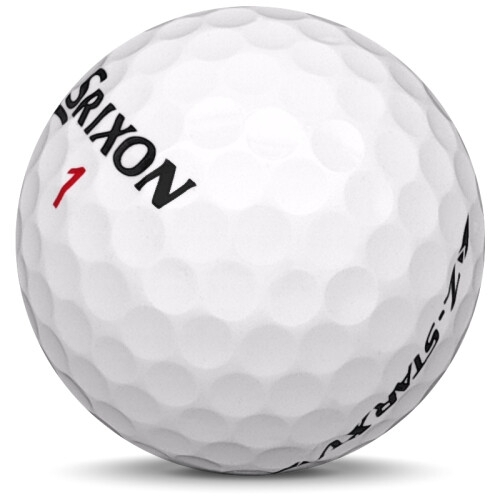 Golfboll av modellen Srixon Z-Star XV i 2020 års version med vit färg sned bild