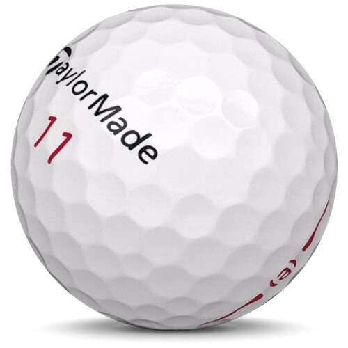 Golfboll av modellen Taylormade Project (a) i 2019 års version med vit färg sned bild