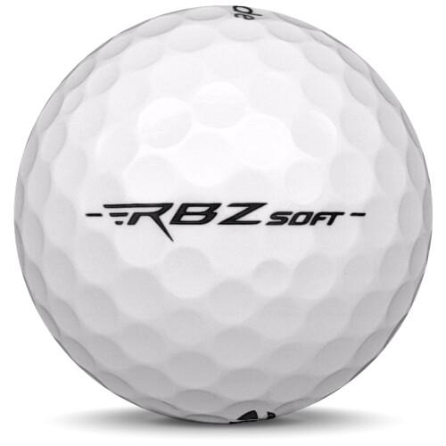 Golfboll av modellen TaylorMade RBZ Soft i 2020 års version med vit färg från sidan